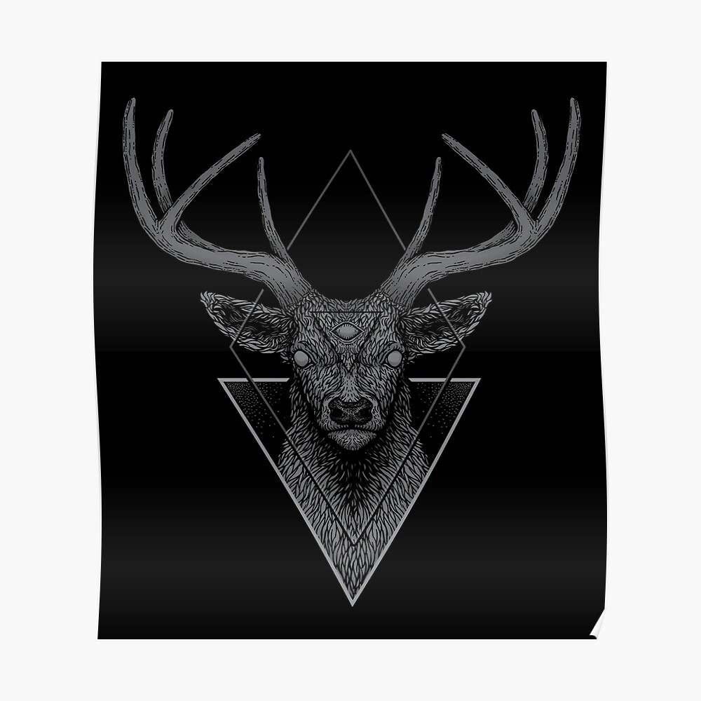 Dark Deer Poster