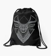 Dark Deer Drawstring Bag