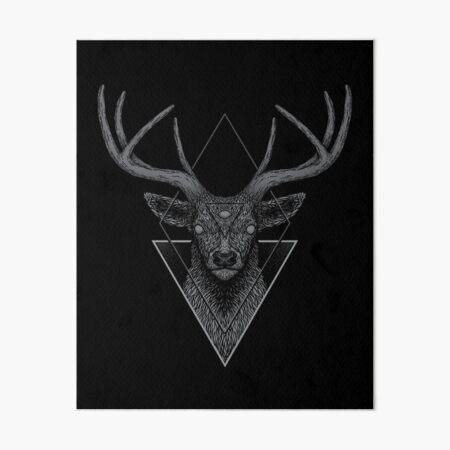 Dark Deer Art Board Print