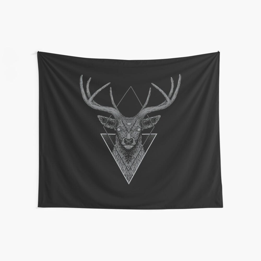 Ciervo oscuro Tela decorativa