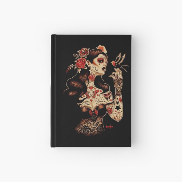 Day of the Dead Art, Day of the Dead Picture ,Dia De Los Muertos Hardcover Journal