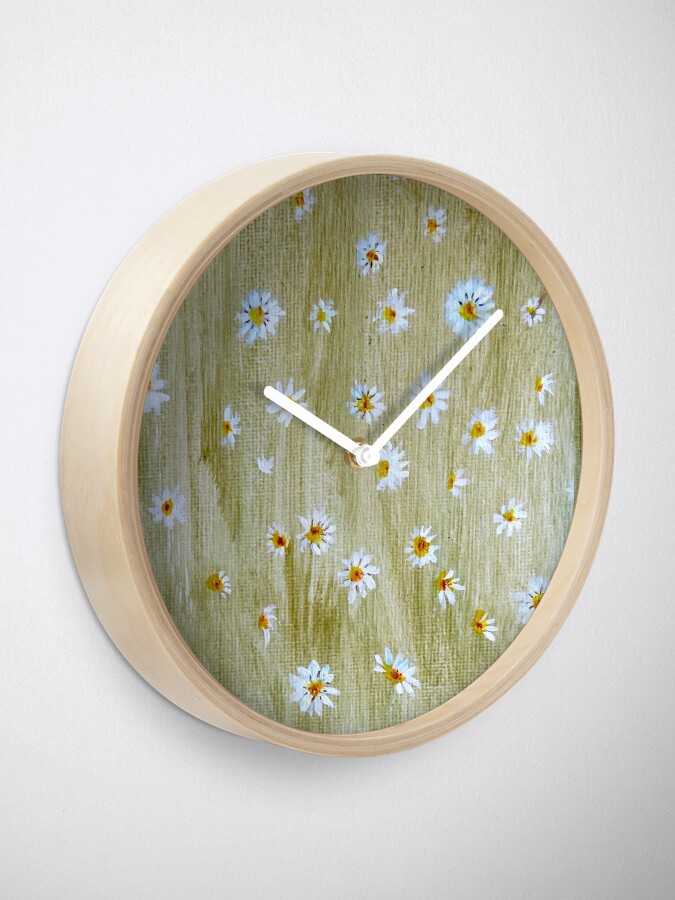 Alternate view of Daisies Clock