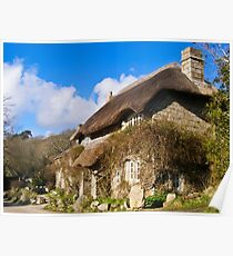 Penberth Thatched Cottage Poster
