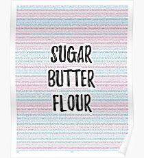 Waitress: Sugar, Butter, Flour Poster