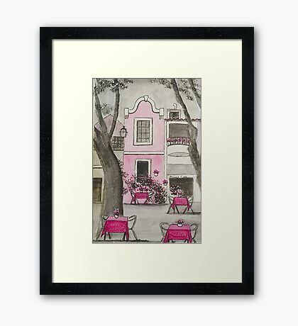 Rosa's Cafe Framed Print