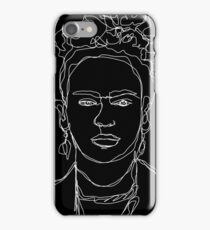 Frida Kahlo Single-Line Portrait Inverted iPhone Case/Skin