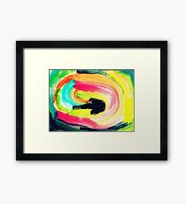 colorful Abstract Painting in WaterColor Framed Print