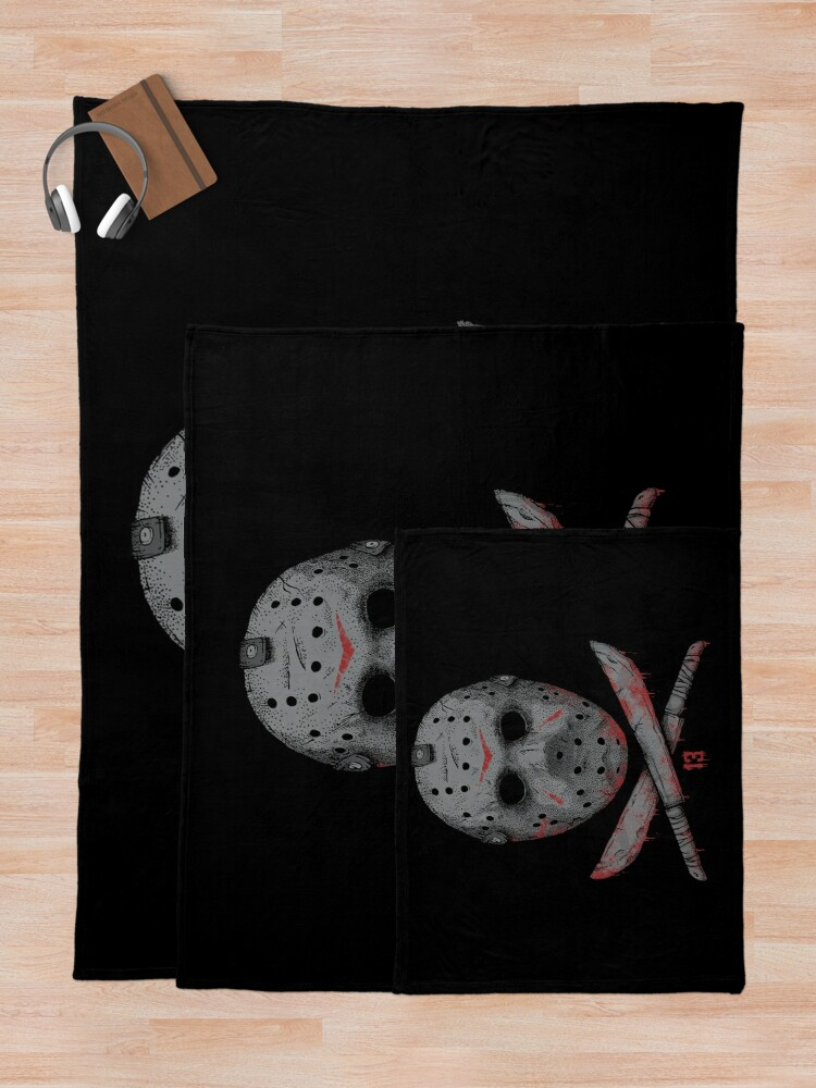 Alternate view of Friday the 13th Throw Blanket