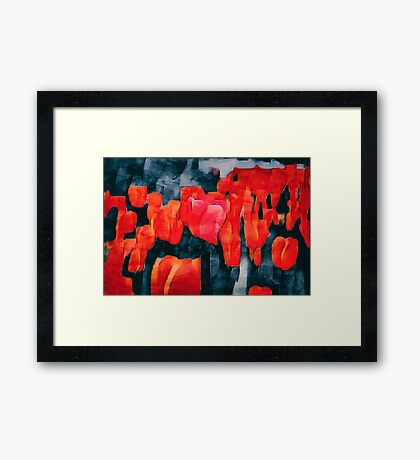 Tulip Field at Night Framed Print