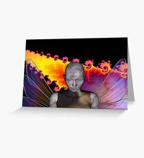Cracked Angel Greeting Card