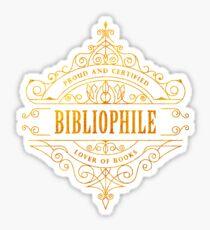 Gold Bibliophile Sticker