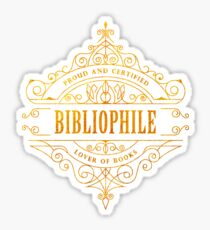 Pegatina Bibliófilo de oro