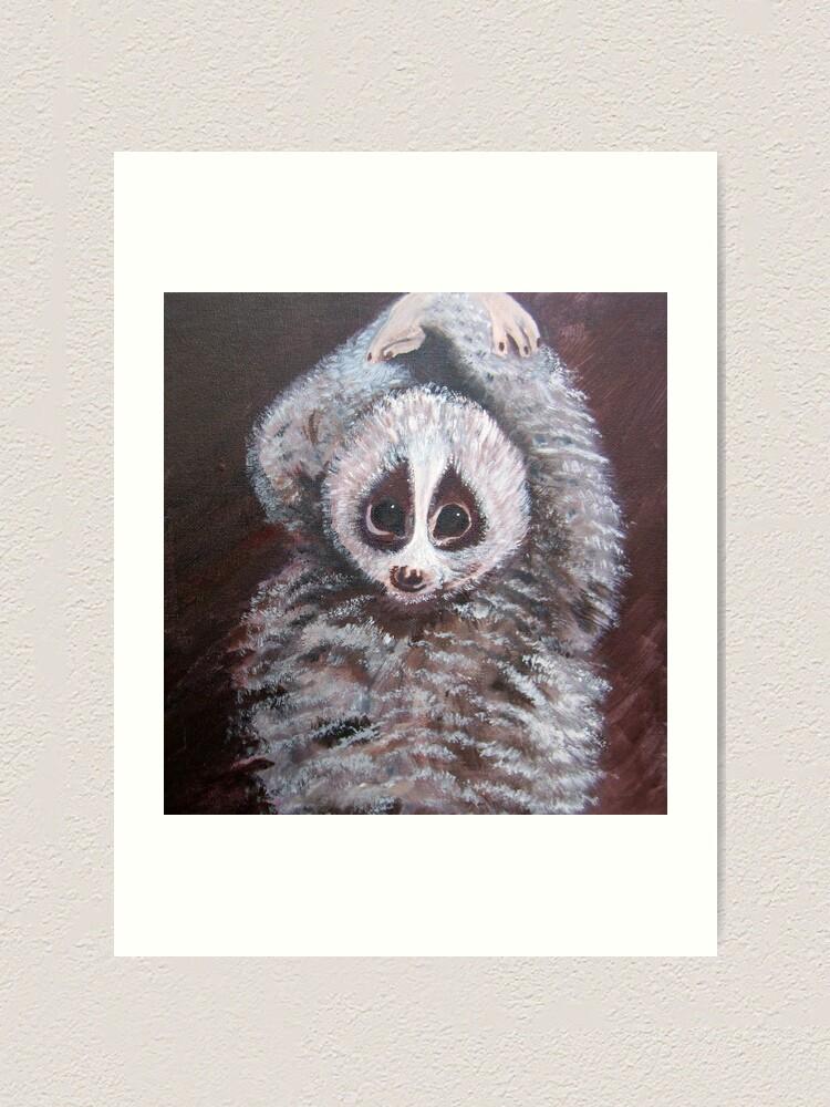 Alternate view of Lemur Art Print