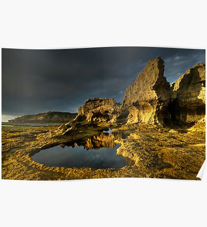 Golden Arch Rock Afternoon Poster