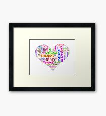 thank you in different languages Framed Print