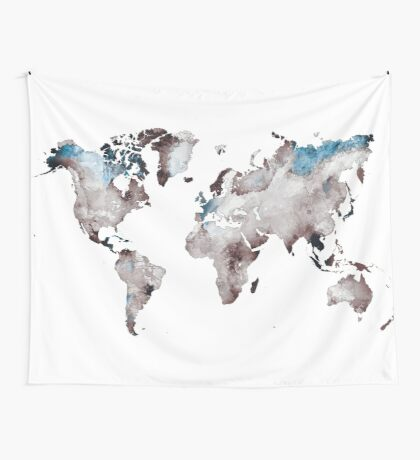 world map 73 Wall Tapestry