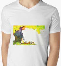 Calvin and Hobbes Summer Days Mens V-Neck T-Shirt