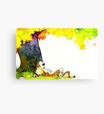 Calvin and Hobbes Summer Days Canvas Print
