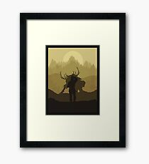 The beast hunt Framed Print