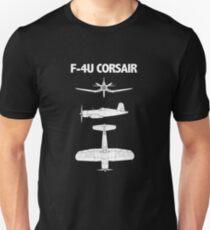 Vought F4U Corsair Aircraft Design T-Shirt