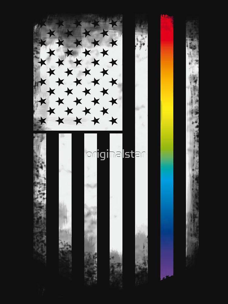 gay pride rroud LBGT rainbow flag usa america by originalstar