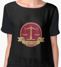 Layer Symbol Sign - Attorney Gift Women's Chiffon Top