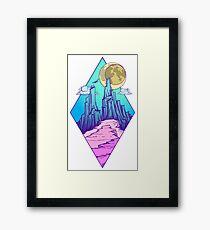 Mountain peak Framed Print
