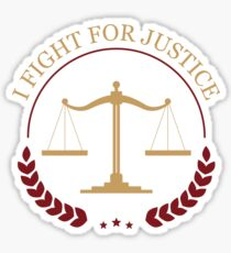 I Fight For Justice - Awesome Lawyer Attorney Gift Sticker
