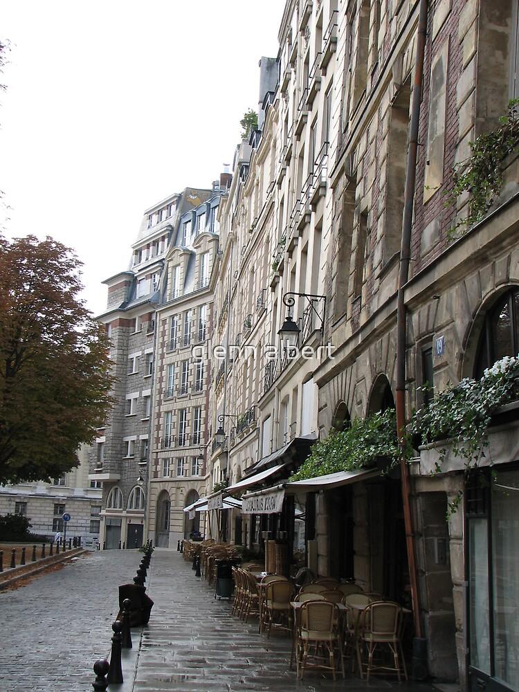 Paris Sidewalk by glenn albert