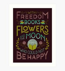 Flowers and the Moon Art Print