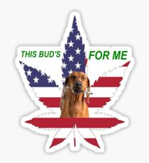 This Bud's For Me Fourth Of July Patriotic American Flag  Sticker