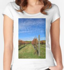 Autumnal Grape Vines Women's Fitted Scoop T-Shirt