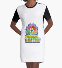 Forces and Motion Graphic T-Shirt Dress