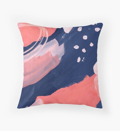 Pink Abstraction Throw Pillow