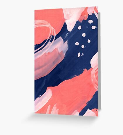 Pink Abstraction Greeting Card