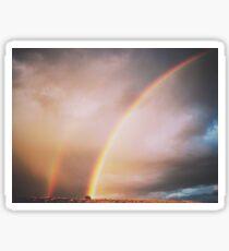 Double Rainbow!  Sticker