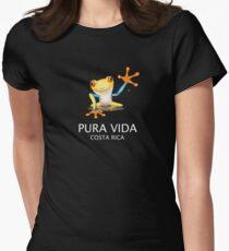 Costa Rica Tree Frog Pura Vida Women's Fitted T-Shirt