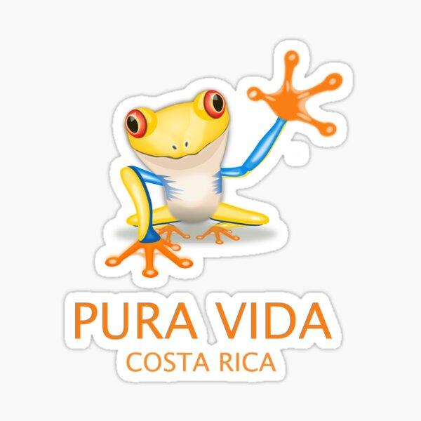 Rana arbórea de Costa Rica Pura Vida Pegatina