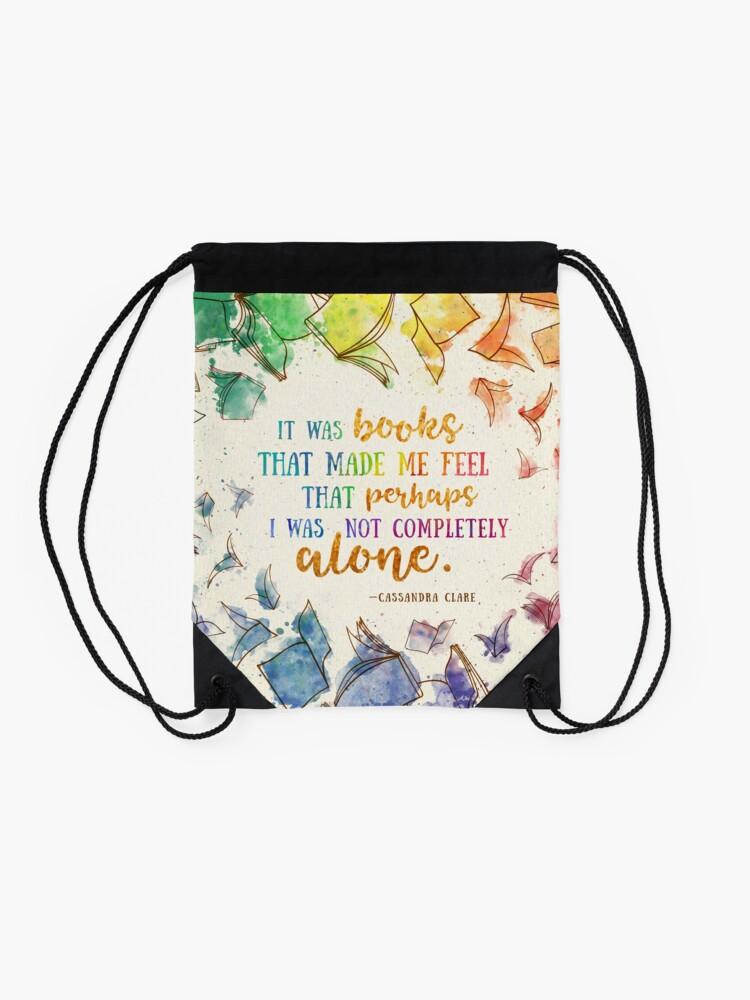Alternate view of It was books Drawstring Bag