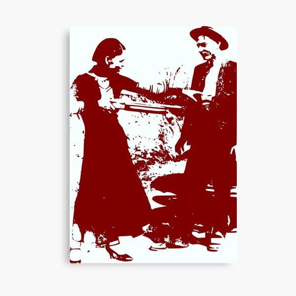 Bonnie and Clyde Canvas Print