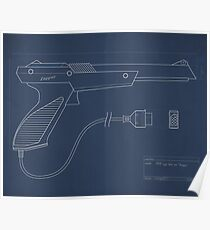 Blueprint of a Zapper light gun Poster