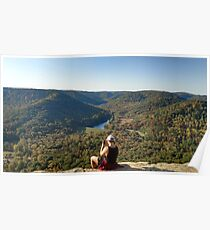 View From the Top of Berea Pinnacles Poster