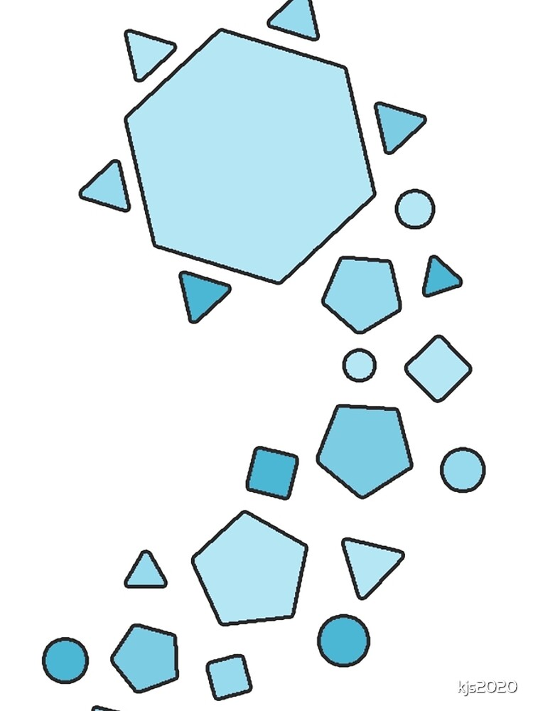 Polygons - Turquoise by peppermintfloss