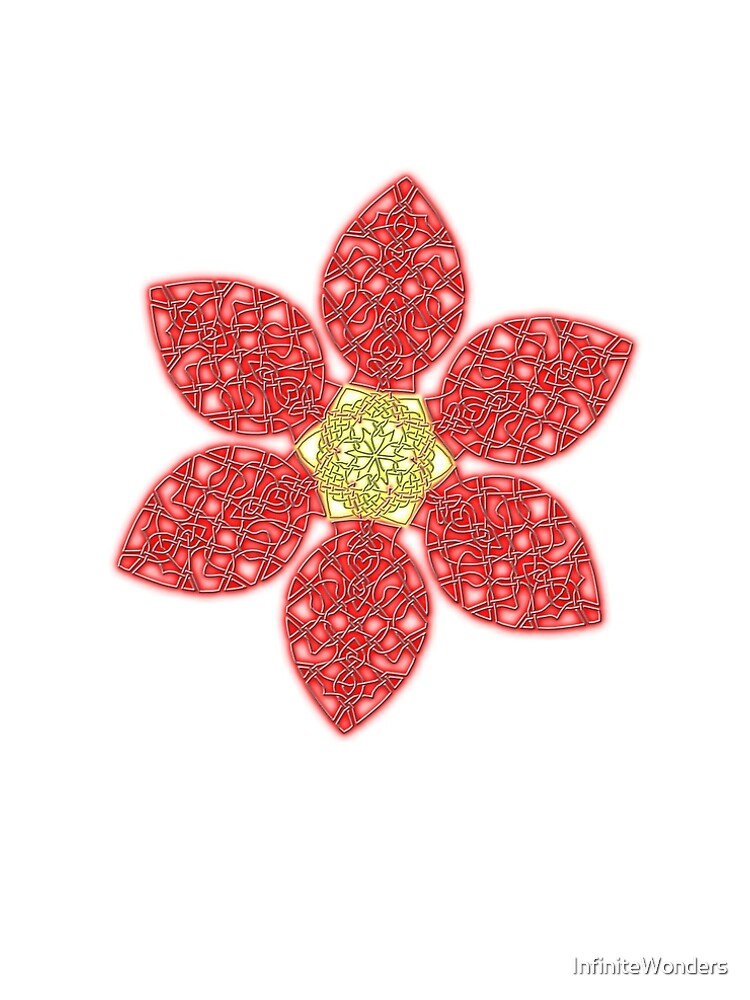 Red Celtic Knot Flower by InfiniteWonders