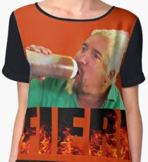 Guy Fieri Women's Chiffon Top