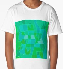 Cyber Field Geometric Abstraction Long T-Shirt