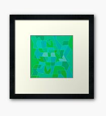 Cyber Field Geometric Abstraction Framed Print