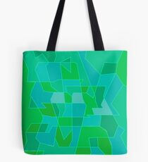 Cyber Field Geometric Abstraction Tote Bag