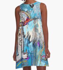 Basquiat's Angel as a Woman A-Line Dress