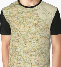 Old map of Georgia Graphic T-Shirt